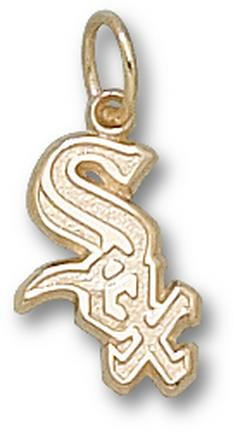 "Chicago White Sox ""Sox with Border"" 1/2"" Charm - 14KT Gold Jewelry"