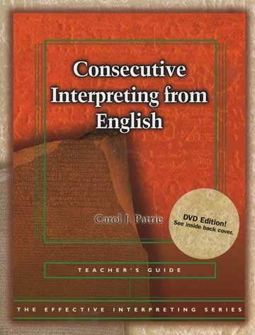 Cicso Independent BDVD186 Effective Interpreting - Consecutive Interpreting from English Teacher Set
