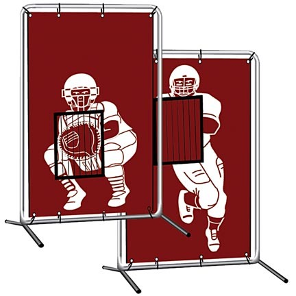"Cimarron 2-Sport ""Baseball / Softball"" Catcher Vinyl Backstop With Frame"