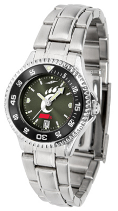 Cincinnati Bearcats Competitor AnoChrome Ladies Watch with Steel Band and Colored Bezel