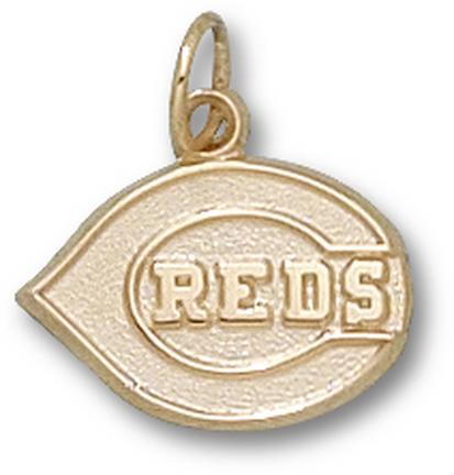 """Cincinnati Reds """"C Reds Club Logo"""" 1/2"""" Charm - 10KT Gold Jewelry"""