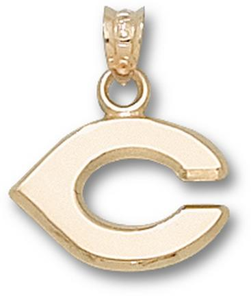 "Cincinnati Reds Polished ""C"" 7/16"" Pendant - 10KT Gold Jewelry"