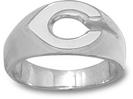 "Cincinnati Reds Polished ""C"" Men's Ring Size 9 1/2 - Sterling Silver Jewelry"