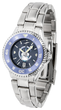 Citadel Bulldogs Competitor AnoChrome Ladies Watch with Steel Band and Colored Bezel