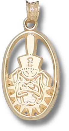 "Citadel Bulldogs Oval ""Bulldog Face"" Pendant - 10KT Gold Jewelry"