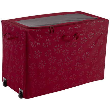 Classic Accessories Holiday Decoration All Purpose Rolling Storage Bin