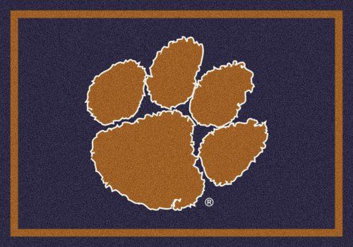 "Clemson Tigers ""Horizontal"" 3'10""x 5'4"" Team Spirit Area Rug"