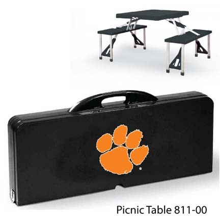 Clemson Tigers Portable Folding Table and Seats