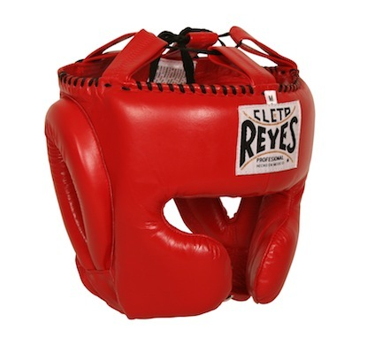 Cleto Reyes Red Headgear with Cheek Protectors (Medium)