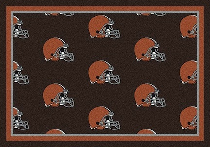 "Cleveland Browns 3' 10"" x 5' 4"" Team Repeat Area Rug (Brown)"