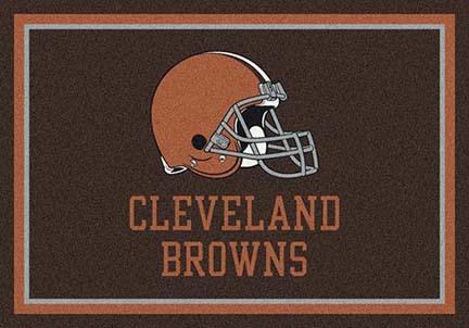 """Cleveland Browns 3' 10"""" x 5' 4"""" Team Spirit Area Rug (Brown)"""