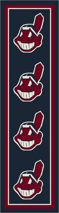 "Cleveland Indians 2' 1"" x 7' 8"" Team Repeat Area Rug Runner"