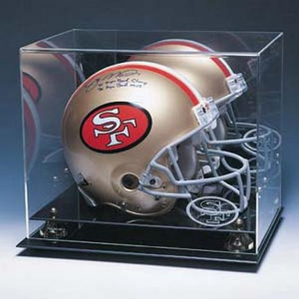 Coach's Choice Full Size Football Helmet Display Case with Engraved NFL Team Logo