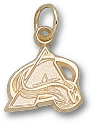 """Colorado Avalanche 3/8"""" """"A"""" Charm - 10KT Gold Jewelry"""