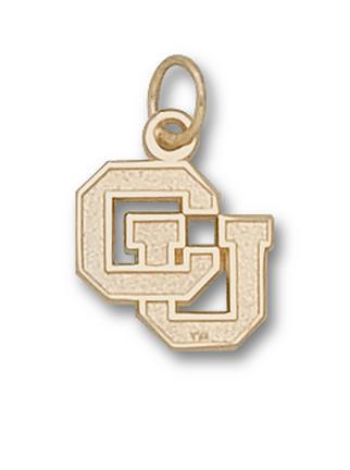 "Colorado Buffaloes 1/2"" ""CU"" Charm - 10KT Gold Jewelry"