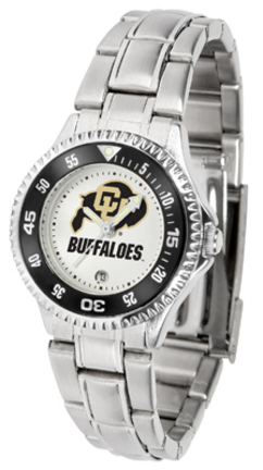 Colorado Buffaloes Competitor Ladies Watch with Steel Band