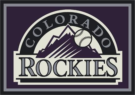 """Colorado Rockies 3'10"""" x 5'4"""" Team Spirit Area Rug"""