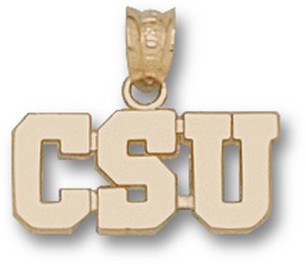 "Colorado State Rams ""CSU"" Pendant - 10KT Gold Jewelry"