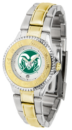 Colorado State Rams Competitor Ladies Watch with Two-Tone Band