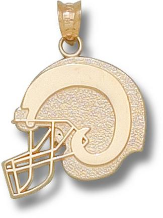 "Colorado State Rams Flat ""Logo Helmet"" Pendant - 10KT Gold Jewelry"
