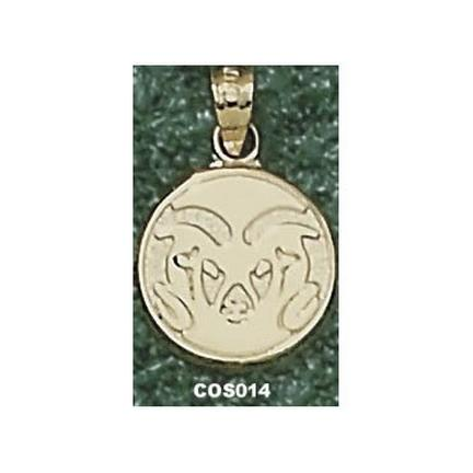 """Colorado State Rams Graphic """"Ram Head"""" 1/2"""" Pendant - 10KT Gold Jewelry"""