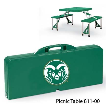 Colorado State Rams Portable Folding Table and Seats