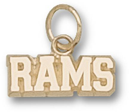 "Colorado State Rams ""Rams"" 3/16"" Charm - 14KT Gold Jewelry"