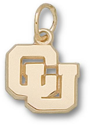 "Columbia Lions 5/16"" Interlocked ""CU"" Charm - 10KT Gold Jewelry"