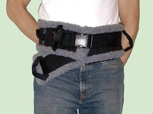 Complete Medical 11612D SafetySure Transfer Belt Sheepskin Lined - Small 23-36