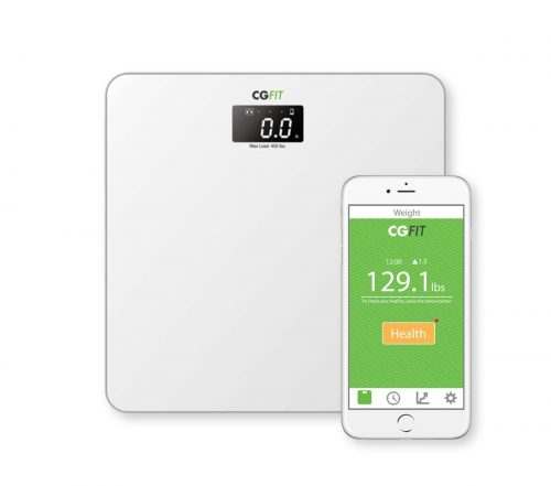 Concept Green Energy CGFIT Wireless Ultra Sonic Sound Smart Bathroom Scale White