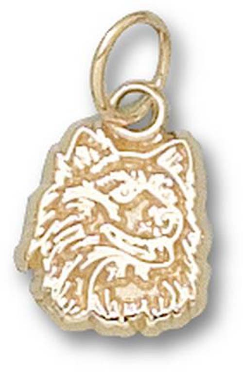 "Connecticut Huskies ""Huskie Head"" 3/8"" Charm - 10KT Gold Jewelry"
