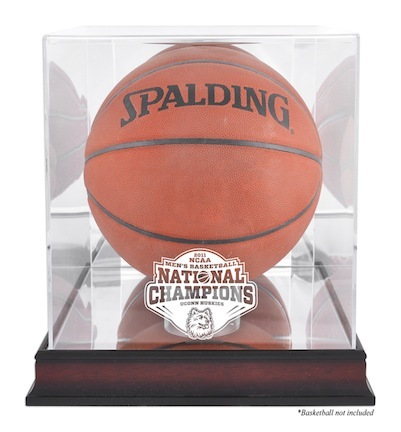 Connecticut Huskies NCAA 2011 Men's National Champions Antique Mahogany Base Basketball Display Case