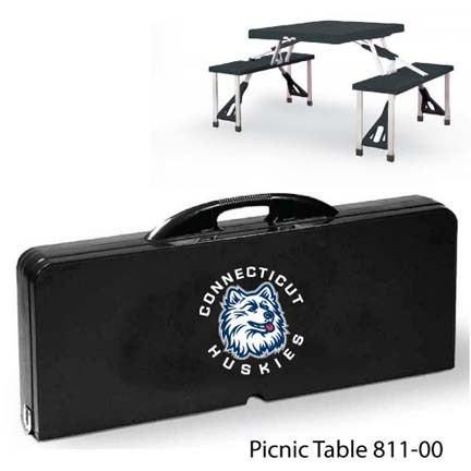 Connecticut Huskies Portable Folding Table and Seats