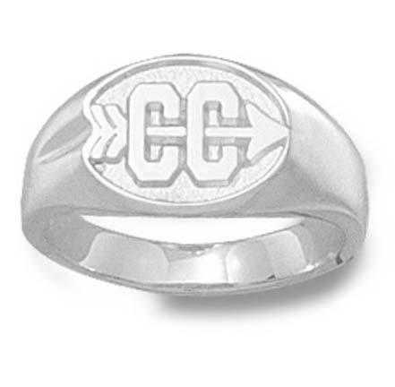 """Cross Country Symbol"""" 3/8"""" Ladies' Ring - Sterling Silver Jewelry"""