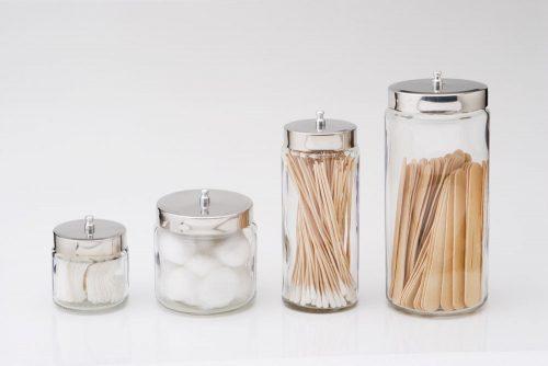 """DDI 2169489 Glass Dressing Jar , 4"""" x 4"""", SS Lid 6 ct"""