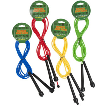 DDI 2286258 9 Foot Fitness Jump Rope 4 Assorted Colors With Black Handles Case of 24