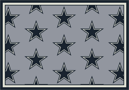 "Dallas Cowboys 3' 10"" x 5' 4"" Team Repeat Area Rug (Gray)"