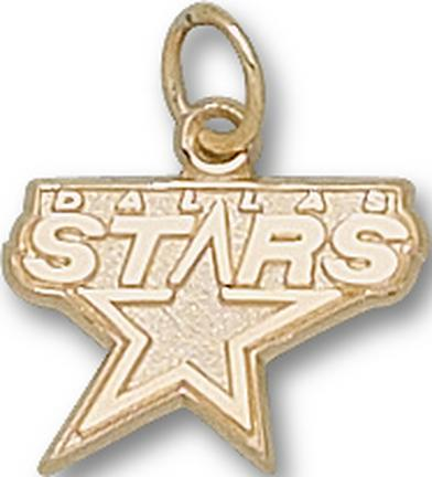 "Dallas Stars ""Stars Logo"" 3/8"" Charm - 10KT Gold Jewelry"