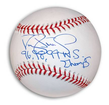 "Darryl Strawberry Autographed MLB Baseball Inscribed with ""96 98 99 WS Champs"