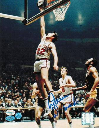 """Dave DeBusschere Autographed """"Layup"""" New York Knicks 8"""" x 10"""" Photo"""
