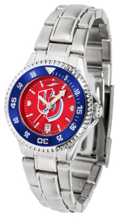 Dayton Flyers Competitor AnoChrome Ladies Watch with Steel Band and Colored Bezel
