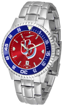 Dayton Flyers Competitor AnoChrome Men's Watch with Steel Band and Colored Bezel
