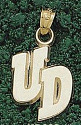 "Dayton Flyers ""UD"" 1/4"" Pendant - 10KT Gold Jewelry"