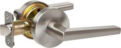 Delaney Contemporary 351521 Vida Series Privacy Door Lever Set Satin Nickel