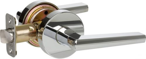Delaney Contemporary 351526 Vida Series Privacy Door Lever Set Polished Chrome