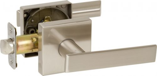 Delaney Contemporary 352521L Kira Series Privacy Door Left Hand Lever Set Satin Nickel