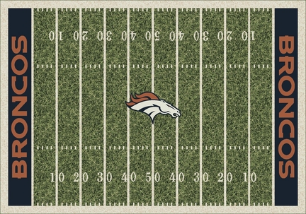 """Denver Broncos 3' 10"""" x 5' 4"""" Home Field Area Rug"""