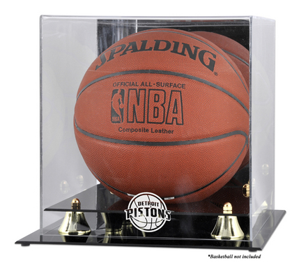 Detroit Pistons Golden Classic Logo Basketball Display Case