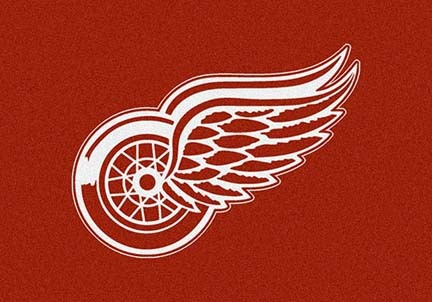 "Detroit Red Wings 3' 10"" x 5' 4"" Team Spirit Area Rug"