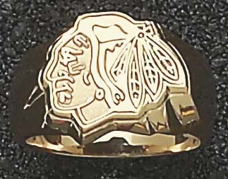 "Detroit Red Wings ""Logo"" 5/8"" Men's Ring Size 11 - Sterling Silver Jewelry"